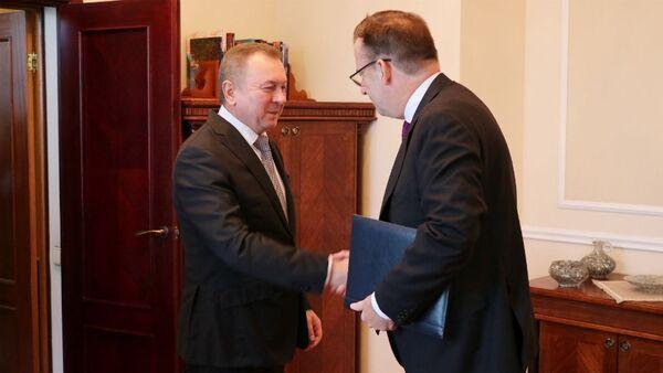 Макей сустрэўся з новым кіраўніком прадстаўніцтва ЕС - Sputnik Беларусь