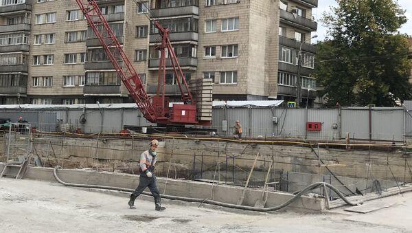 Закопать скелет станции в районе улицы Сухой метростроевцы планируют в октябре - Sputnik Беларусь