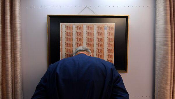 На юбилейной выставке Белорусский рубль. История в четверть века - Sputnik Беларусь