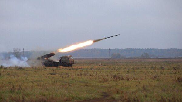 Беларускія войскі могуць атрымаць мадэрнізаваную РСЗА Ураган - Sputnik Беларусь