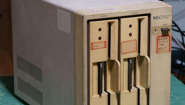 Дисковод для 8-дюймовых дискет, архивное фото - Sputnik Беларусь