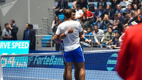 Теннисисты Рафаэль Надаль и Новак Джокович в Нур-Султане - Sputnik Беларусь