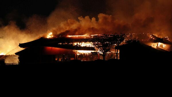 Замок Сюри сгорел в Японии - Sputnik Беларусь
