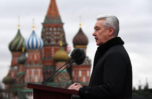 Выступление мэра Москвы Сергея Собянина на Красной площади в Москве - Sputnik Беларусь