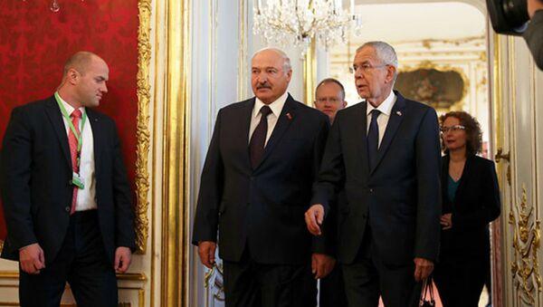 Переговоры президента Беларуси Александра Лукашенко с Федеральным президентом Австрии Александром Ван дер Белленом - Sputnik Беларусь
