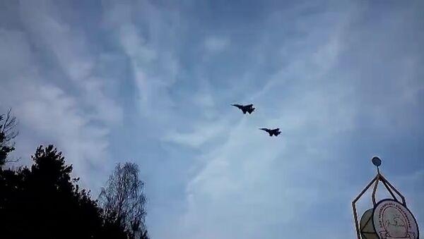 Два СУ-30 СМ приземлились в Барановичах - Sputnik Беларусь