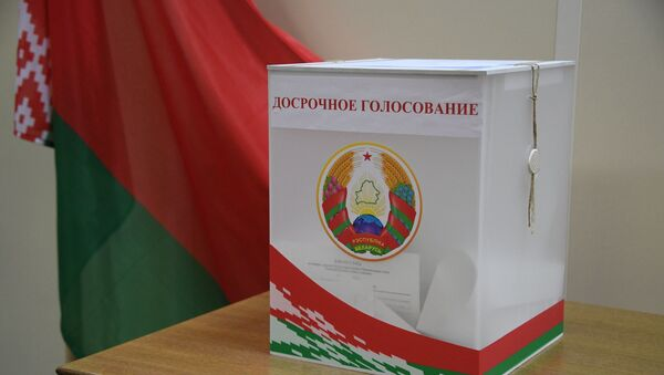 Скрыня для датэрміновага галасавання на выбарчым участку - Sputnik Беларусь