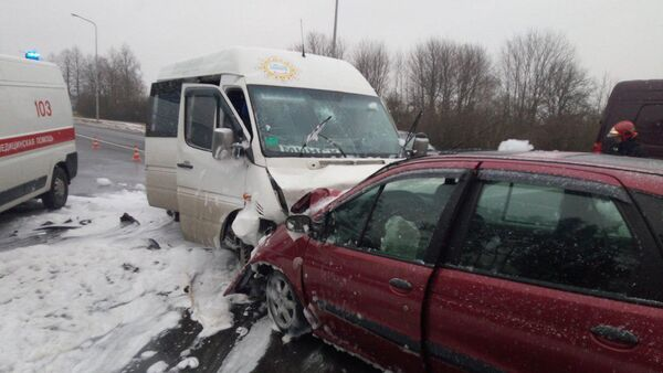 На месте аварии в Красном - Sputnik Беларусь