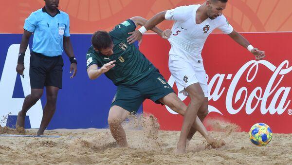 Матч по пляжному футболу между командами Италии и Португалии - Sputnik Беларусь