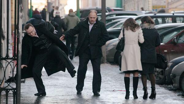 Гололед на улицах города - Sputnik Беларусь