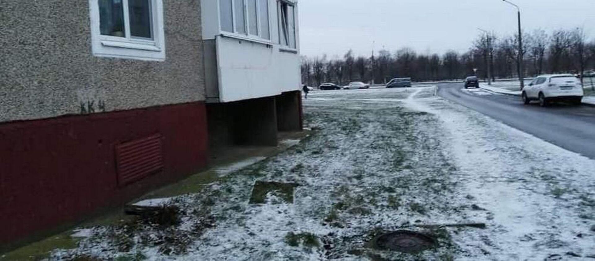 Под балконом этого дома в Могилеве был найден 9-месячный ребенок - Sputnik Беларусь, 1920, 03.12.2019