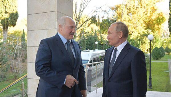 Прэзідэнты Аляксандр Лукашэнка і Уладзімір Пуцін - Sputnik Беларусь
