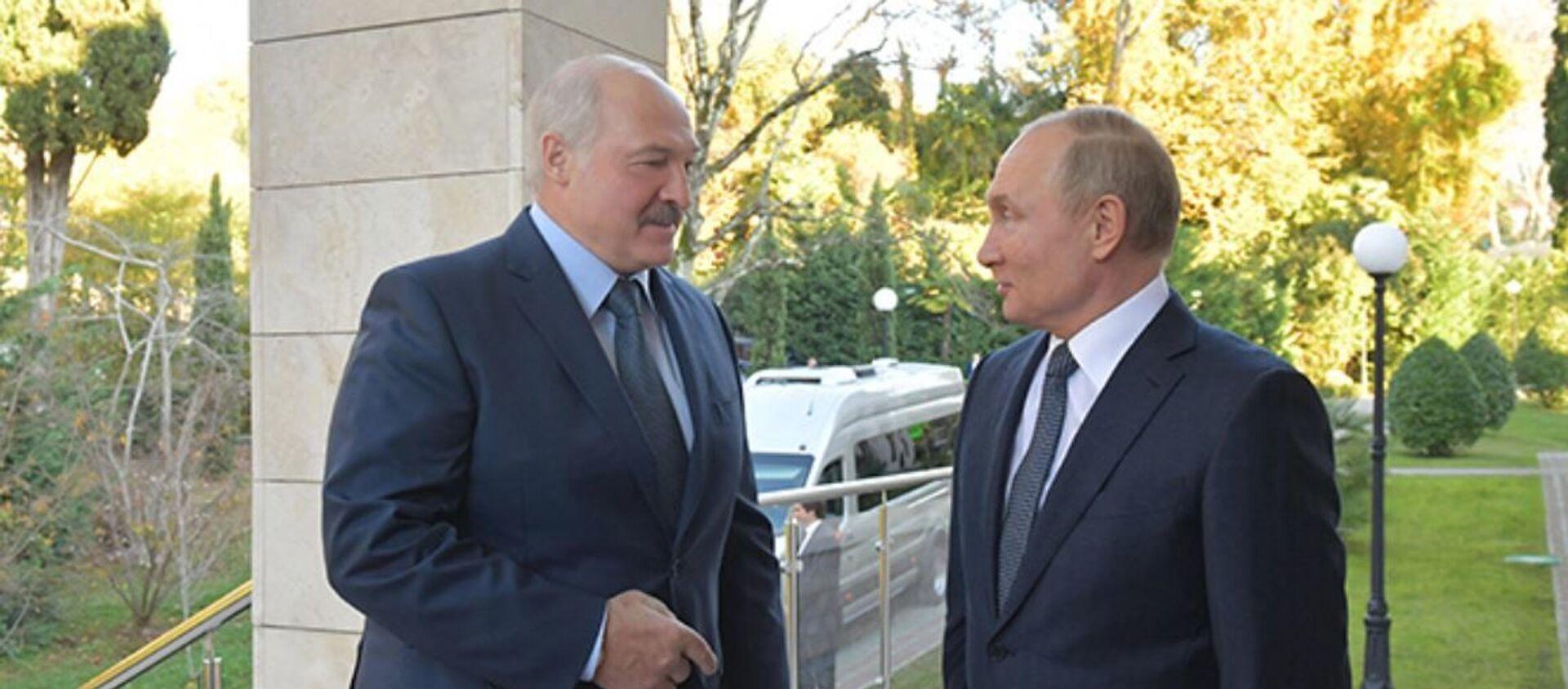 Прэзідэнты Аляксандр Лукашэнка і Уладзімір Пуцін - Sputnik Беларусь, 1920, 21.01.2021