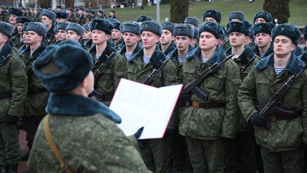 Прысяга навабранцаў у Віцебску - Sputnik Беларусь