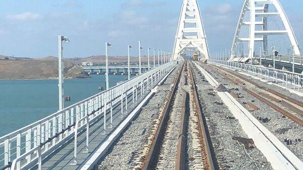 Строительство Крымского моста, архивное фото - Sputnik Беларусь
