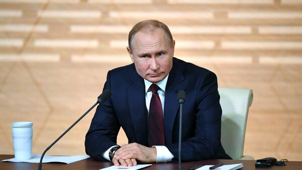 Большая пресс-конференция Владимира Путина 2019 - Sputnik Беларусь