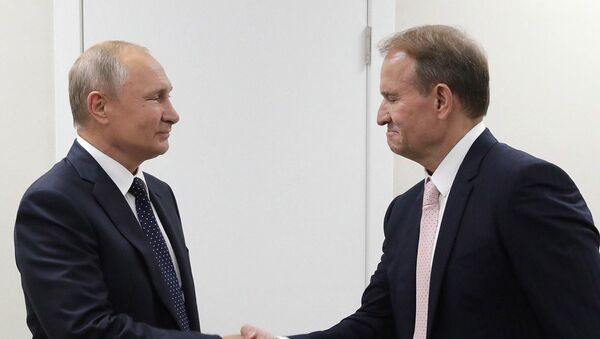 Владимир Путин встретился в Петербурге с Виктором Медведчуком, чтобы обсудить газовый контракт с Украиной - Sputnik Беларусь