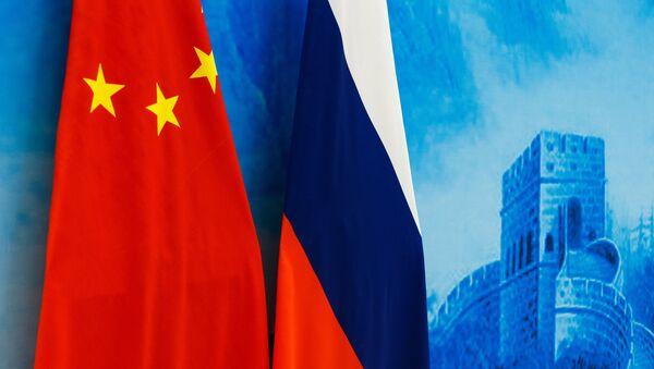 Флаги России и Китая, архивное фото - Sputnik Беларусь