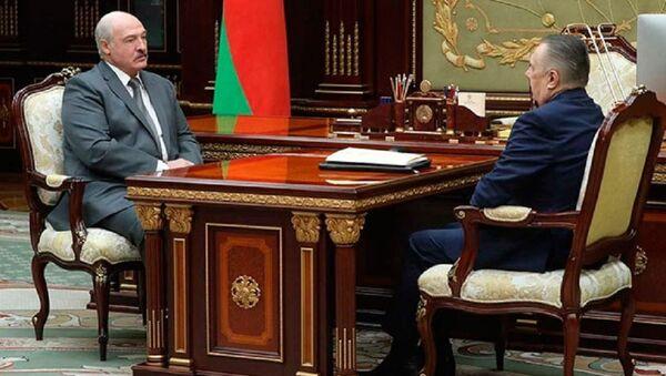 Аляксандр Лукашэнка і Валянцін Сукала - Sputnik Беларусь