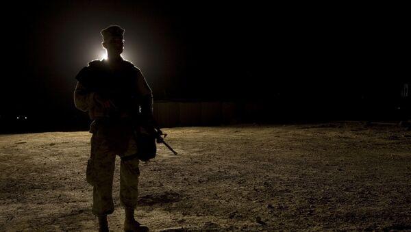Морской пехотинец США на авиабазе Аль-Асад в провинции Анбар, Ирак - Sputnik Беларусь