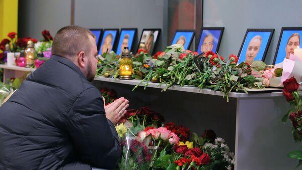 Память погибших в авиакатастрофе членов экипажа Boeing-737 почтили в Киеве - Sputnik Беларусь