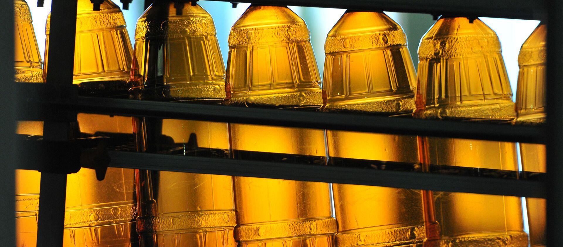 Пластиковые бутылки на линии розлива, архивное фото - Sputnik Беларусь, 1920, 10.06.2021
