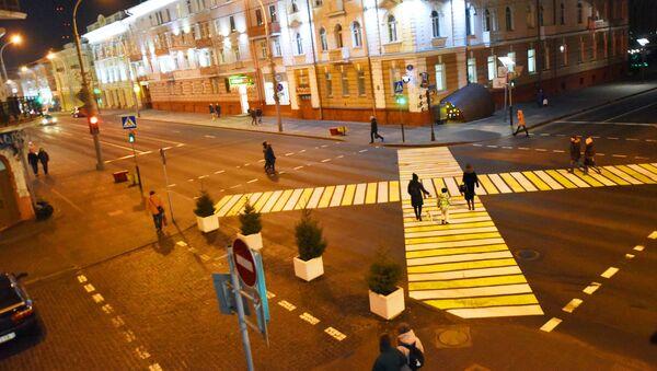 Необычный пешеходный переход появился в центре Гомеля - Sputnik Беларусь