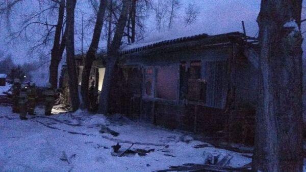 Пожар в жилом доме в Томской области - Sputnik Беларусь