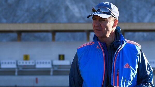 Тренер белорусской мужской команды по биатлону Андрей Падин - Sputnik Беларусь