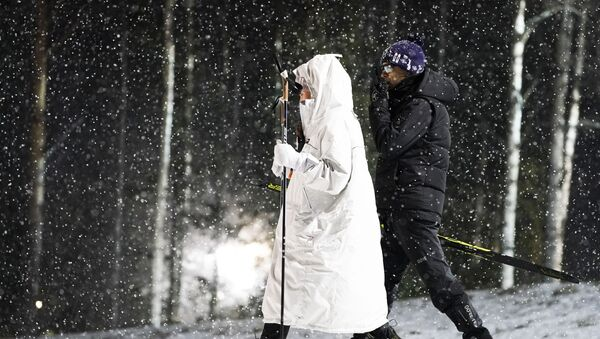 Уле-Эйнар Бьорндален и его супруга Дарья Домрачева - Sputnik Беларусь