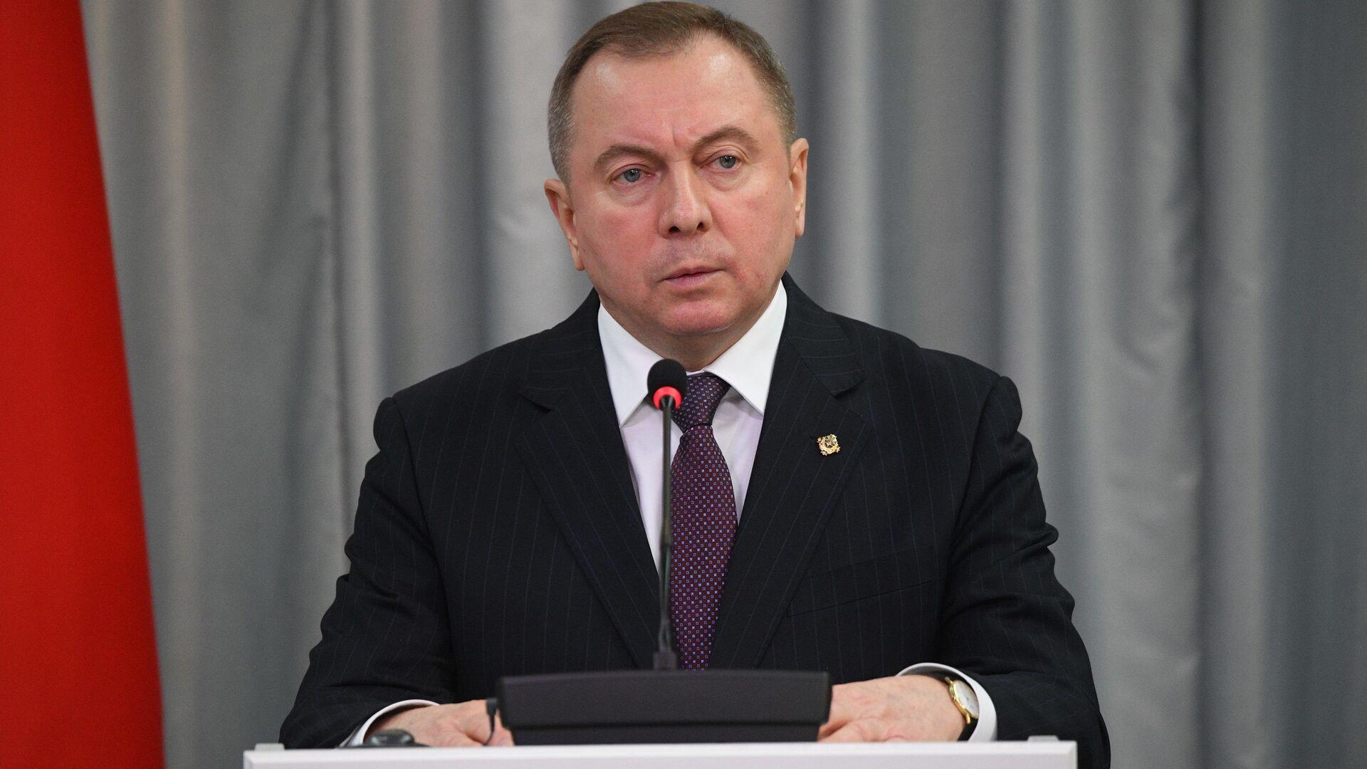 Министр иностранных дел Беларуси Владимир Макей - Sputnik Беларусь, 1920, 07.04.2021
