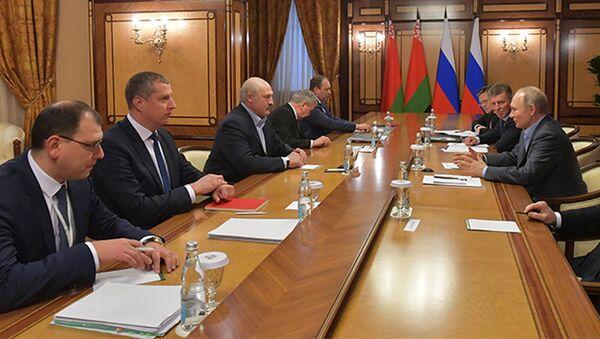 Президент Александр Лукашенко на переговорах в Сочи - Sputnik Беларусь