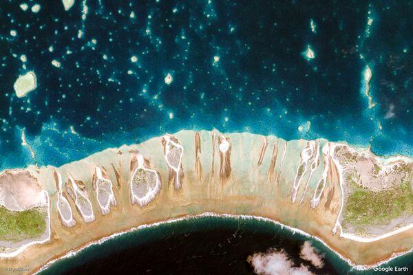 Изображение из космоса местности в районе островов Туамоту и Гамбье, Французская Полинезия - Sputnik Беларусь
