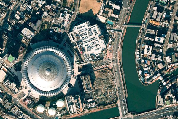 Изображение из космоса города Осака, Япония. - Sputnik Беларусь