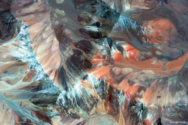 Изображение из космоса провинции Паринакота в составе области Арика-и-Паринакота, Чили - Sputnik Беларусь
