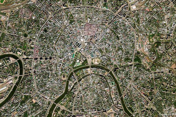 Изображение из космоса города Москвы, Россия - Sputnik Беларусь