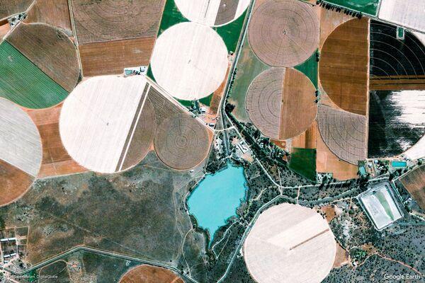 Изображение из космоса местности в провинции Ксарип, ЮАР - Sputnik Беларусь