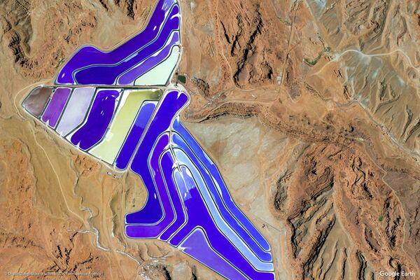 Изображение из космоса местности в районе города Моаб, штата Юта, США - Sputnik Беларусь