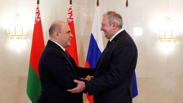 Михаил Мишустин и Сергей Румас - Sputnik Беларусь