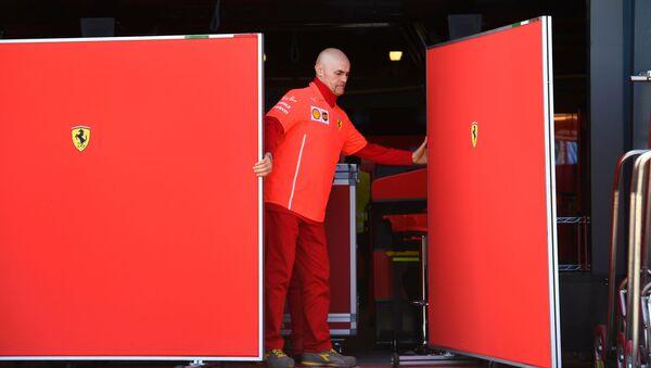Боксы Ferrari в Мельбурне - Sputnik Беларусь
