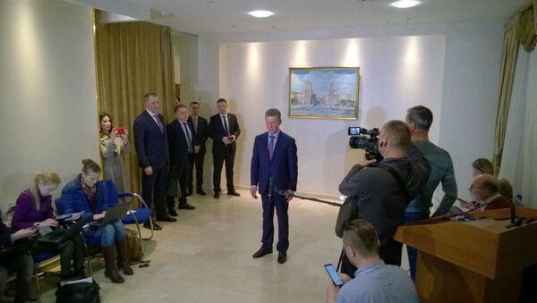 Брифинг Дмитрия Козака по итогам трехсторонней контактной группы в Минске - Sputnik Беларусь