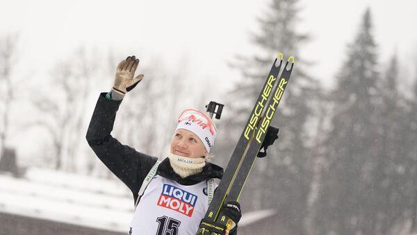 Финская биатлонистка Кайса Мякяряйнен  - Sputnik Беларусь