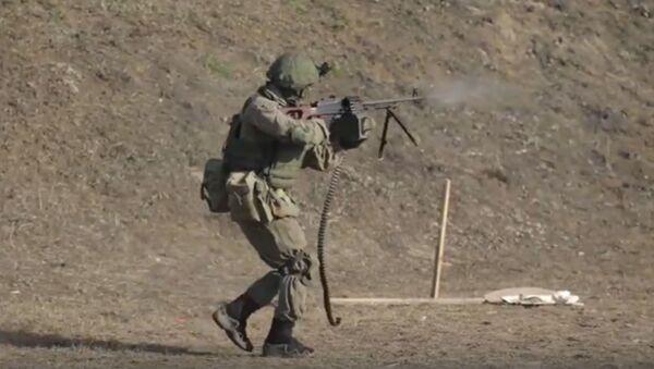 Глядзіце, як праходзяць заняткі спецназа па тактычнай стральбе – відэа - Sputnik Беларусь