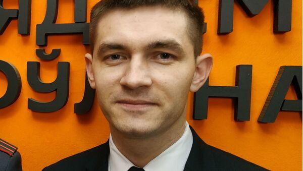 Представитель УВД Минской области Дмитрий Дудков - Sputnik Беларусь