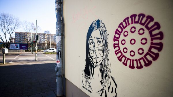 Граффити на тему коронавируса в Берлине - Sputnik Беларусь