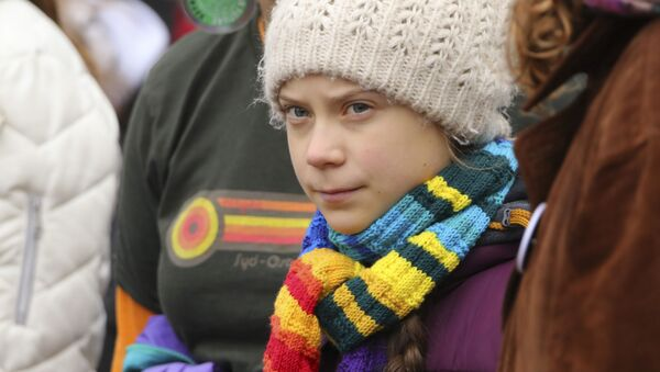Шведская активистка Грета Тунберг - Sputnik Беларусь