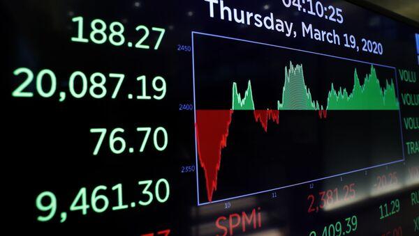 Индекс Dow Jones после закрытия торгов в Нью-Йорке - Sputnik Беларусь