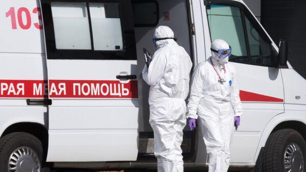 Больница в Коммунарке для пациентов с подозрением на коронавирус - Sputnik Беларусь