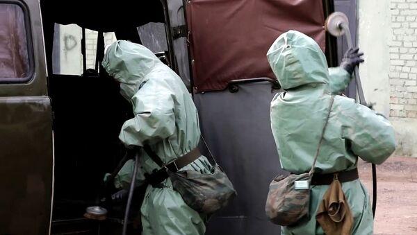 Проверка готовности войск РХБЗ к возникновению угрозы заражения вирусными инфекциями - Sputnik Беларусь
