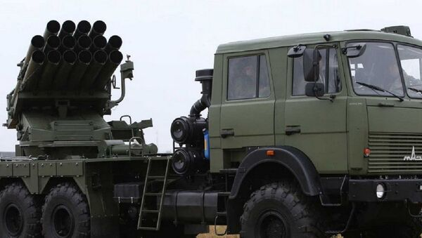 Рэактыўная сістэма залпавага агню Ураган - Sputnik Беларусь